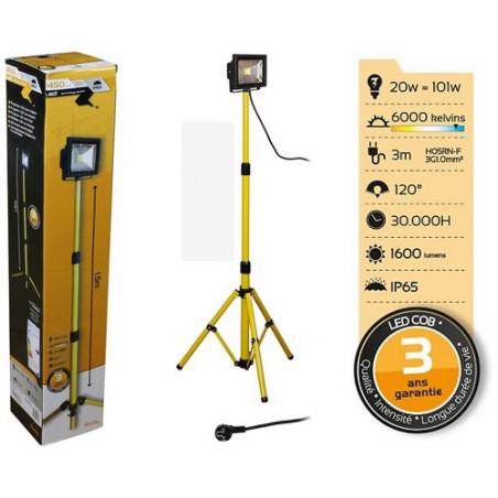 Projecteur LED sur trepied 1.8m - 6000K - 141436