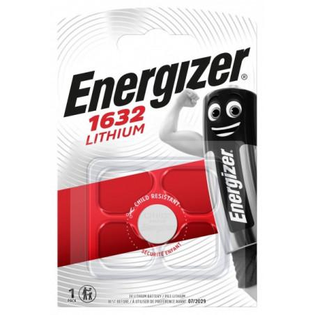 Pile bouton  lithium CR1632 Energizer Blister de 1