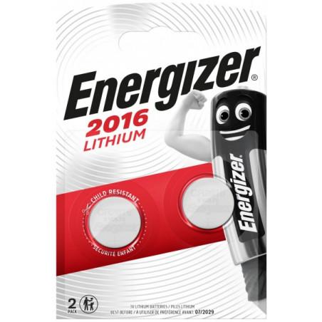 Pile electronique CR2016 Energizer blister de 2