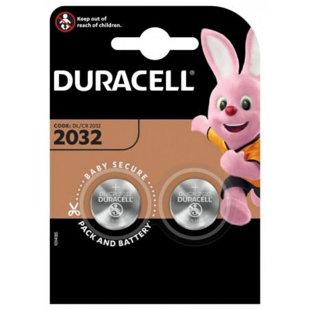 Pile electronique CR2032 Duracell blister de 2