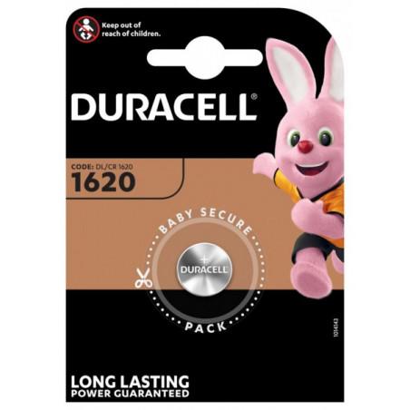 Pile electronique CR1620 Duracell blister de 1