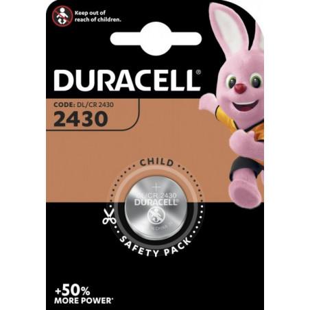 Pile electronique CR2430 Duracell blister de 1