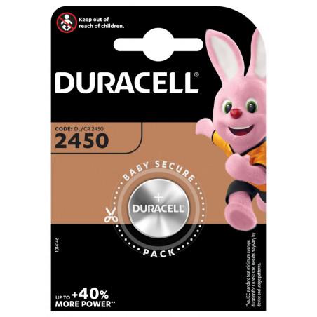 Pile electronique CR2450 Duracell blister de 1