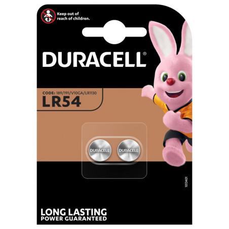 Pile Bouton LR54/10GA - Blister de 2 - Duracell