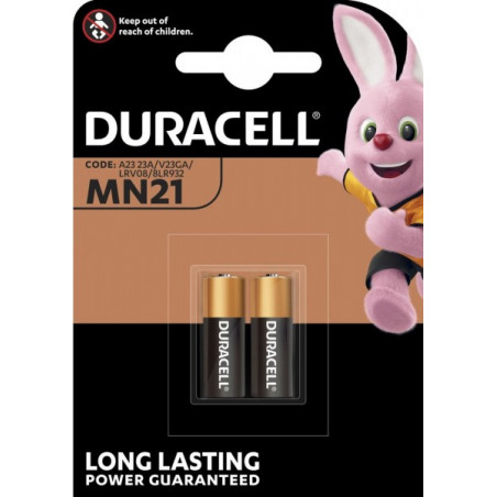 Pile Alcaline 23A Duracell 12V - Blister de 2