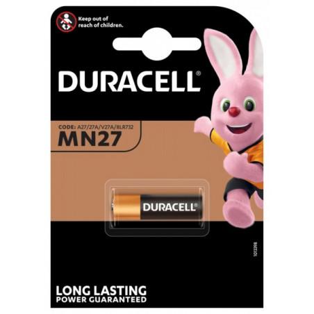 Pile electronique alcaline DURACELL 27A- blister unitaire